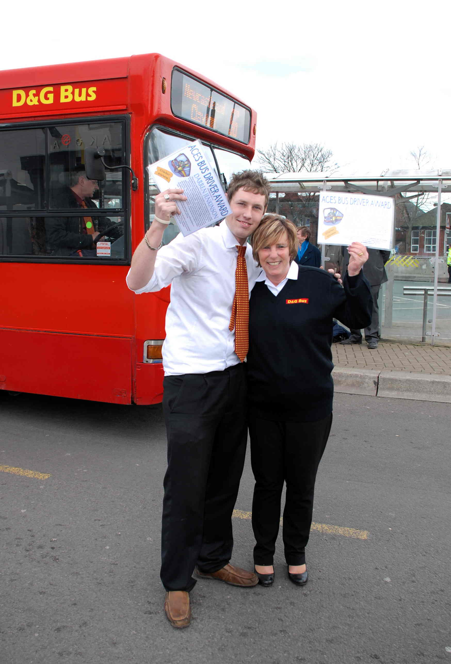 Best Bus Driver Award - D&G Drivers Carol and Darren
